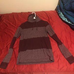 Burgundy sweatshirt with good